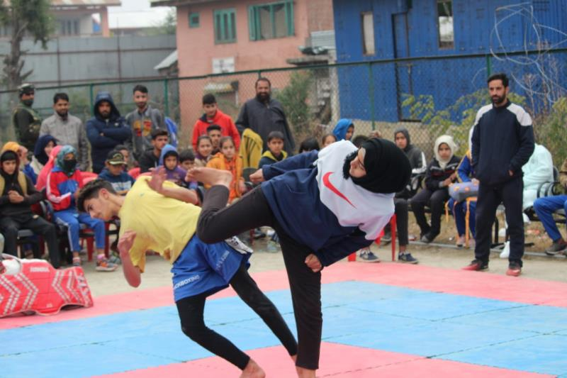 Sabahat afreen participated in National Penchak Silat Championship 2020 and got gold medal