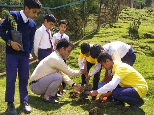 Students of Ags Bandipora Kashmir launch Plantation Drive in Bandipora